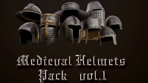Medieval Helmets Pack Vol.1