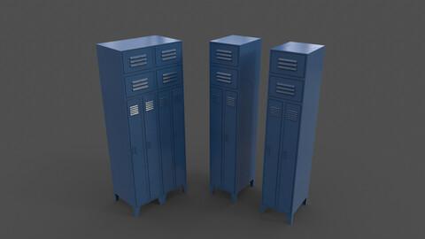 PBR School Gym Locker 10 - Blue Dark