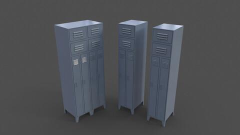 PBR School Gym Locker 10 - Grey