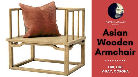 Asian Wooden Armchair