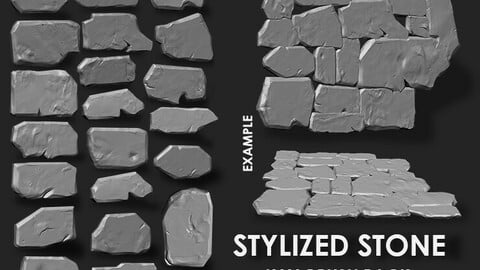 Stylized Stone IMM Brushes 21 in one