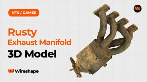 Rusty Exhaust Manifold Raw Scanned 3D Model