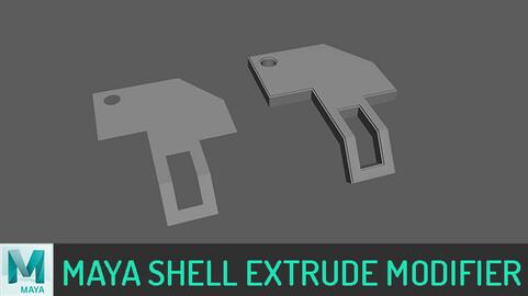 (MAYA)Shell Extrude Modifier