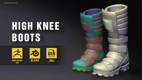 High knee boots. IMM, ZTL, BLEND, OBJ