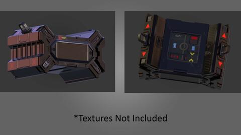 Sci Fi Crate 3D Model (With UVs)