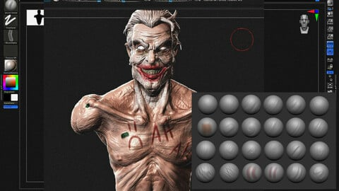 My Zbrush Painting canvas and oil brushes