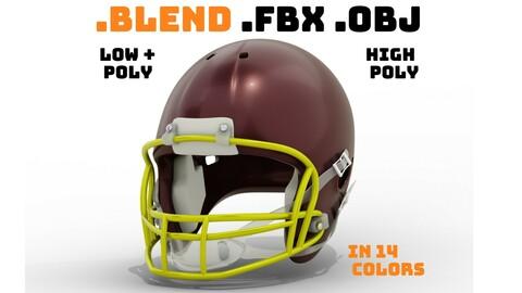 Generic American Football Helmet (Multiple Colors)