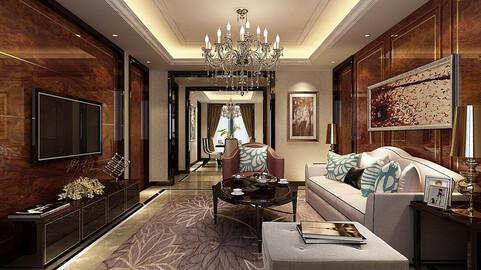 Modern fashion style interior living room -0513