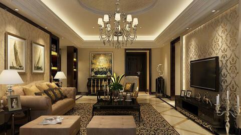 Modern fashion style interior living room -0514