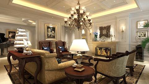 Modern fashion style interior living room -0516