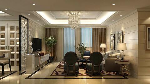 Modern fashion style interior living room -0518