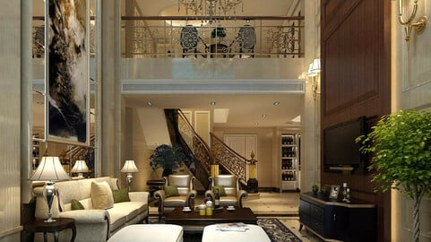 Modern fashion style interior living room -0519
