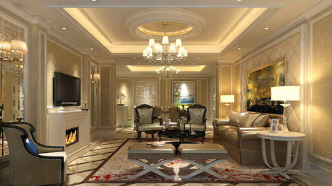 Modern fashion style interior living room -0520