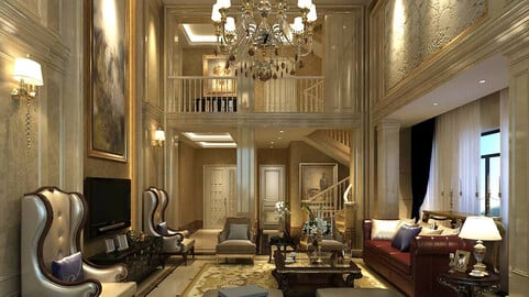 Modern fashion style interior living room -0521