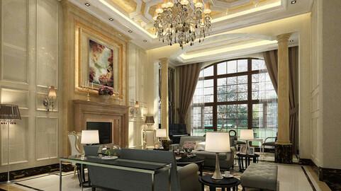 Modern fashion style interior living room -0523
