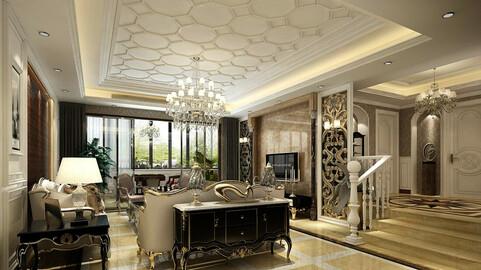 Modern fashion style interior living room -0526