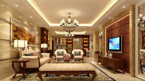 Modern fashion style interior living room -0527