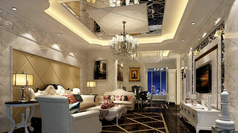 Modern fashion style interior living room -0528