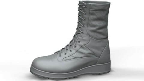 Military Tactical Boots (High Poly Model)