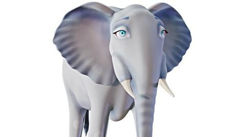 Cartoon Elephant - Stylized model 3D model