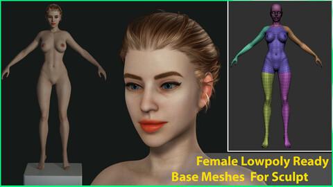 Female LayLa - Lowpoly - Base Meshes