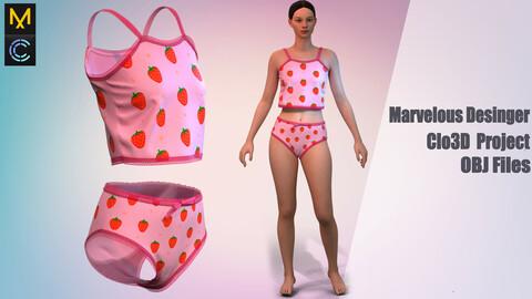 Strawberry for girls/ Marvelous Desinger/Clo3D Project+OBJ File