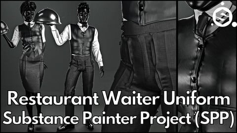 Substance Painter (.SPP) : Restaurant waiter uniform