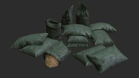 Military Sand Bags Assets 01