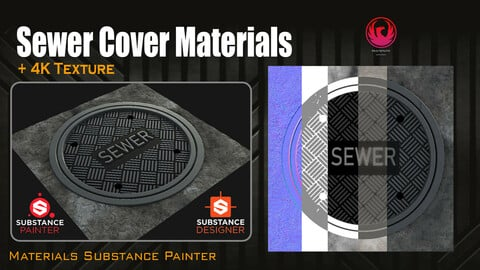 PBR - Sewer Cover - 4K MATERIAL
