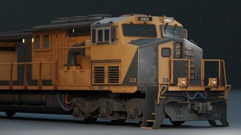 Locomotive Train Low-poly 3D model