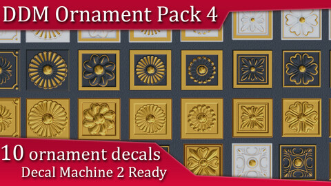 DDM Ornament Pack 4 | Decal Machine 2 Ready Pack