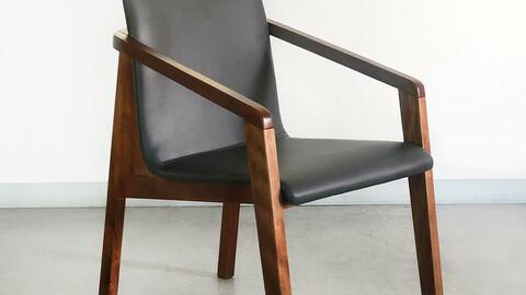 Mahogany Steel League Interior Wood Dining Chair