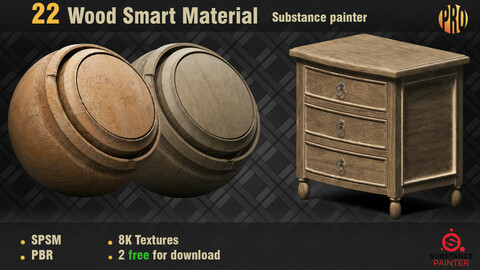 22 Wood Smart Material for Substance Painter