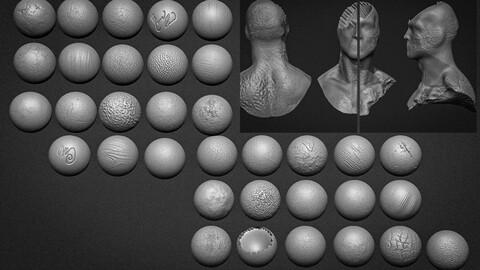 34 Brushes  Concrete - Nature- Wood- Mario Anthony
