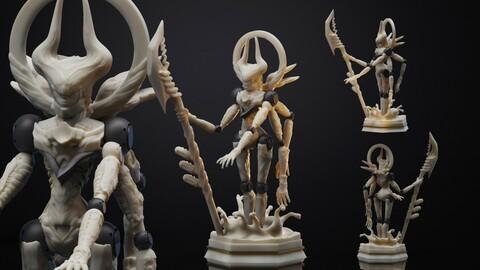 MECHA GOD (STL FILE for 3D printing)