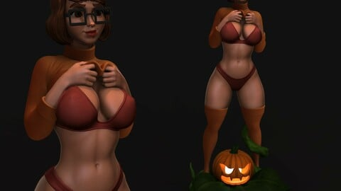 Velma from Scooby-Doo 3D print model