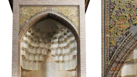 old islamic  turkish arch muqarnas set 135