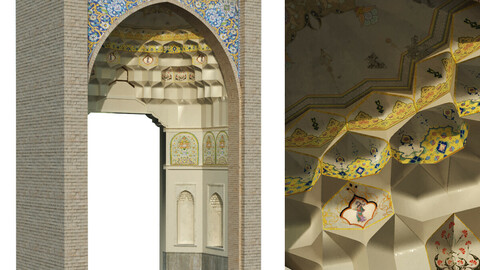 old turkish arch muqarnas set 142