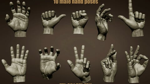 10 Male hands