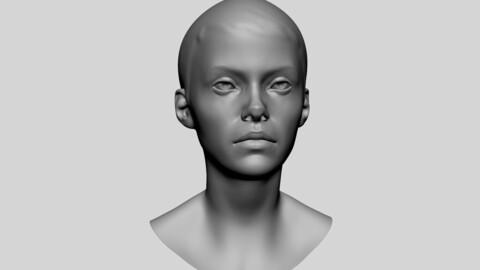 Stylized Female Head 03