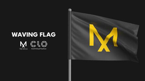 Waving flag. MD / CLO 3D / .zprj project