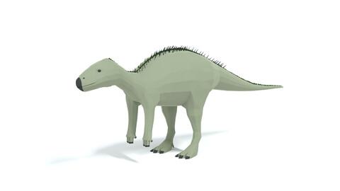 Low Poly Cartoon Zalmoxes Dinosaur