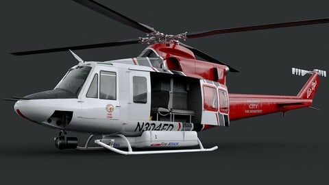 Helicopter Bell 412 LAFD