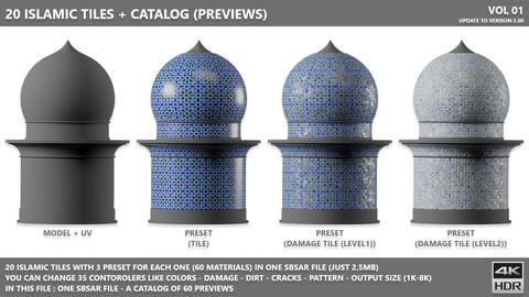 20 ISLAMIC TILES PATTERNS (MAKE UNLIMITED TILES) + 60 PRESET TILES + CATALOG (PREVIEWS) + 35 CONTOROLERS
