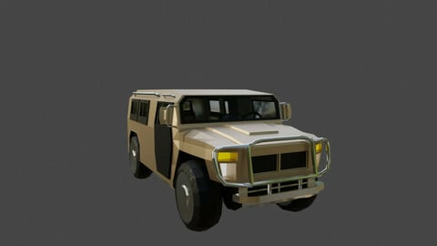 Low Poly Armored Vehicle GAZ
