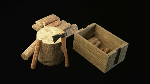 The Old Woodcutter's set Game Ready