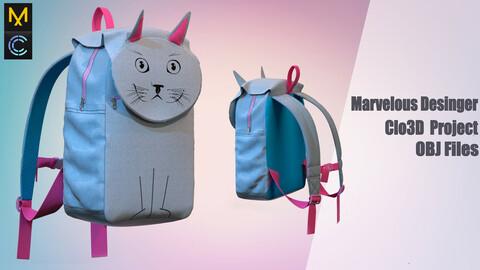 Children's backpack /Marvelous Desinger/Clo3D Project+OBJ File