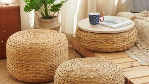 Aquatic rattan stool cushion