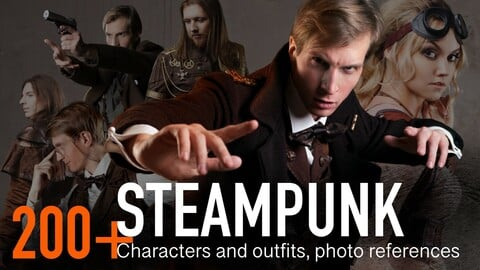 200+ Steampunk style characters. Fantastic vintage style outfit.
