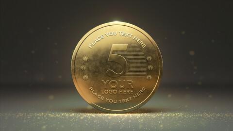 Gold Coin Mockups